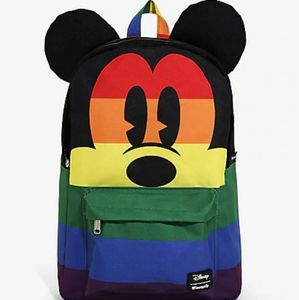 Loungefly Disney Mickey Rainbow Nylon Back…